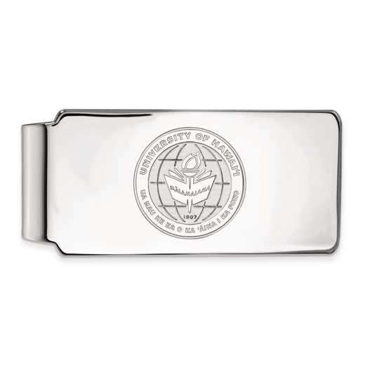 SS018UHI: SS LogoArt The Univ of Hawai'i Money Clip Crest