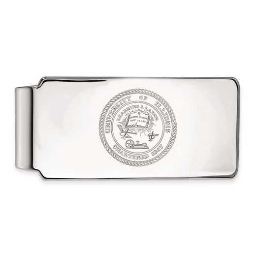 SS070UIL: SS LogoArt Univ of Illinois Crest Money Clip