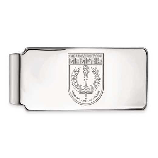SS030UMP: SS LogoArt Univ of Memphis Money Clip Crest