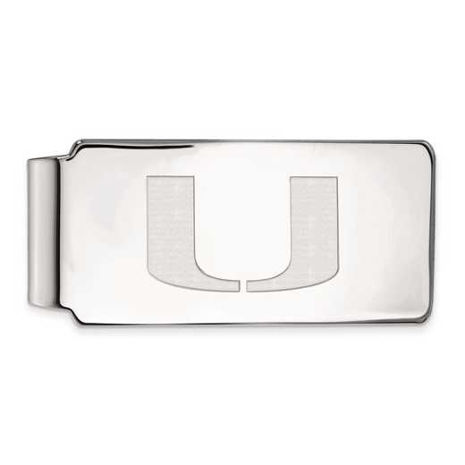SS025UMF: SS LogoArt Univ of Miami Money Clip