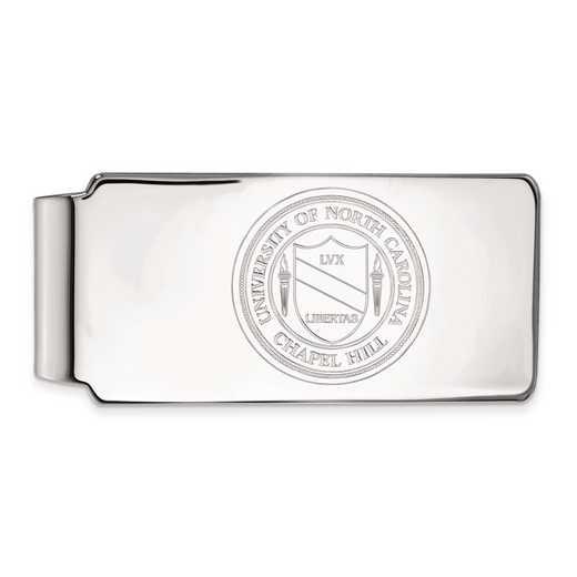 SS061UNC: SS LogoArt Univ of North Carolina Money Clip Crest