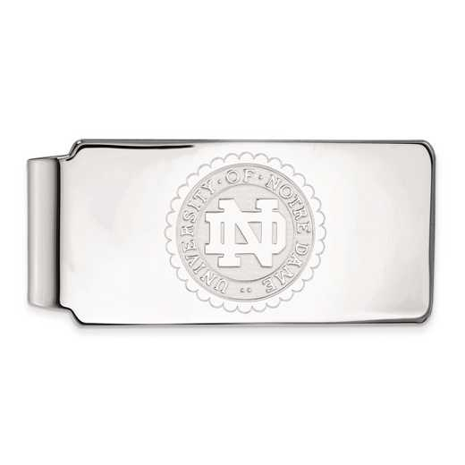 SS070UND: SS LogoArt Univ of Notre Dame Crest Money Clip