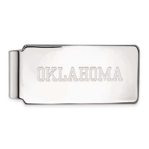 SS046UOK: SS LogoArt Univ of Oklahoma Money Clip