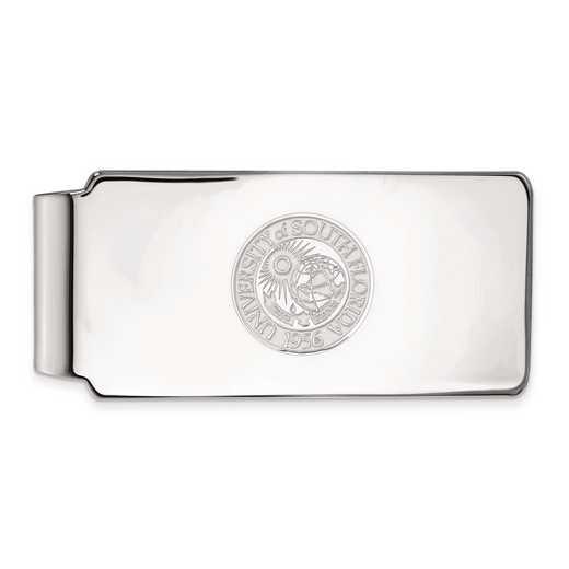 SS023USFL: SS LogoArt Univ of South Florida Money Clip Crest