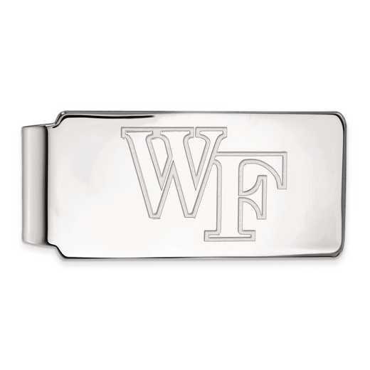 SS019WFU: SS LogoArt Wake Forest Univ Money Clip