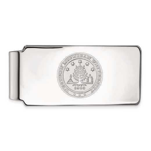 SS023WMU: SS LogoArt Western Michigan Univ Money Clip Crest