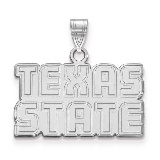 SS021TST: SS LogoArt Texas State University Small PEND
