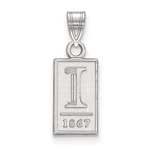 SS062UIL: SS LogoArt University of Illinois Small PEND
