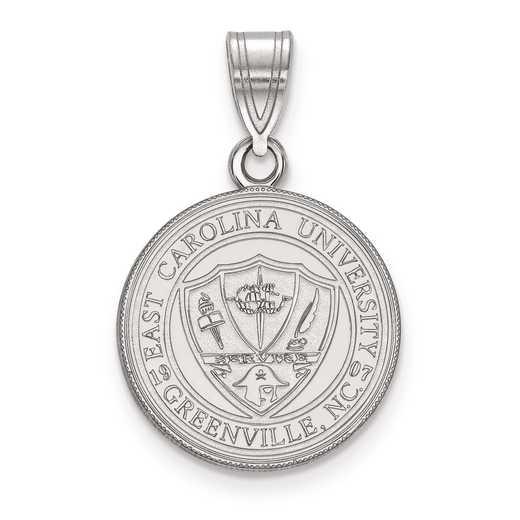 SS053ECU: S S LogoArt East Carolina University Medium Crest Pend