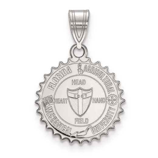 SS012FAM: S S LogoArt Florida A&M University Medium Crest Pend