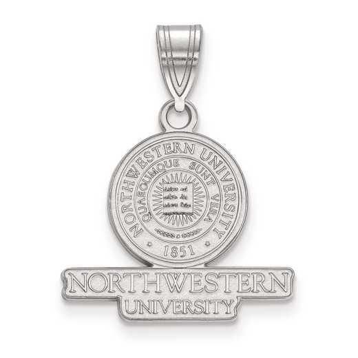 SS007NWU: S S LogoArt Northwestern University Medium Crest Pend