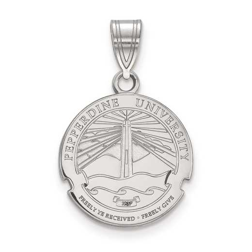 SS007PEU: S S LogoArt Pepperdine University Medium Crest Pend