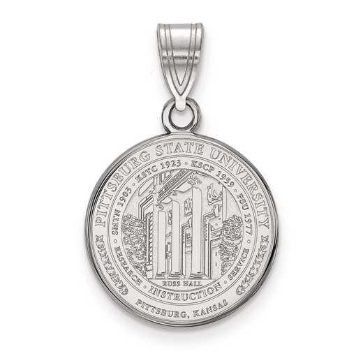 SS015PSK: S S LogoArt Pittsburg State University Medium Crest Pend