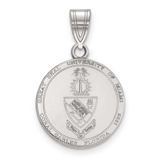SS066UMF: S S LogoArt University of Miami Medium Crest Pend