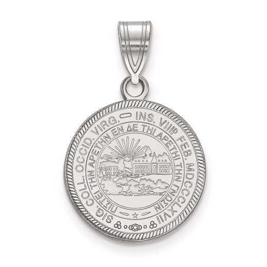 SS049WVU: S S LogoArt West Virginia University Medium Crest Pend