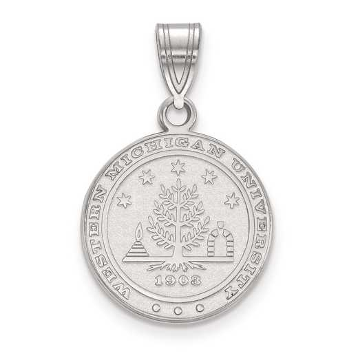 SS019WMU: S S LogoArt Western Michigan University Medium Crest Pend