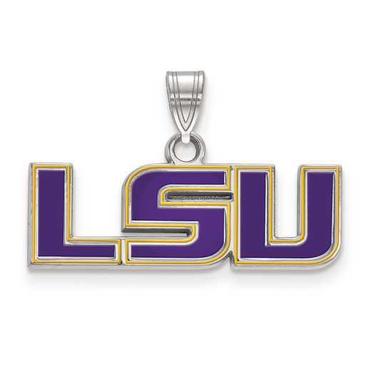 SS025LSU: S S LogoArt Louisiana State University Small Enamel Pend