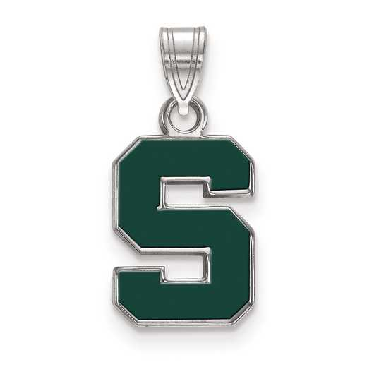 SS031MIS: S S LogoArt Michigan State University Small Enamel Pend