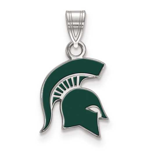 SS059MIS: S S LogoArt Michigan State University Small Enamel Pend
