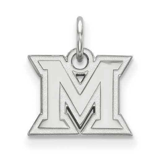 SS001MU: SS LogoArt Miami University XS Pendant