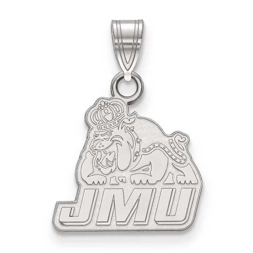 SS002JMU: SS LogoArt James Madison University Small Pendant