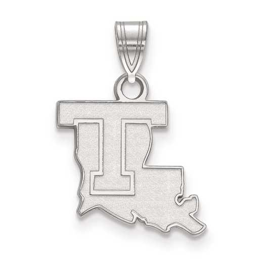 SS001LTU: SS LogoArt Louisiana Tech University Small Pendant