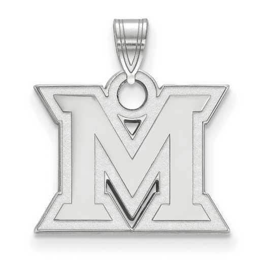 SS002MU: SS LogoArt Miami University Small Pendant