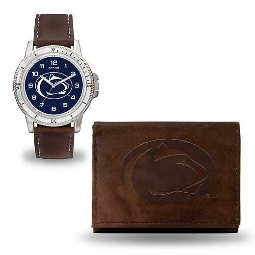 WTWAWB210201: PENN STATE BROWN WATCH AND WALLET