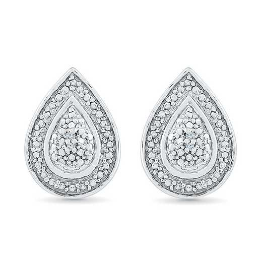 EF080412AAW: STERLING SILVER DIAMOND ACCENT FASHION EARRING