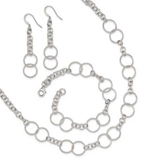 QG2459SET: Sterling Silver Necklace - Bracelet and Earring Set