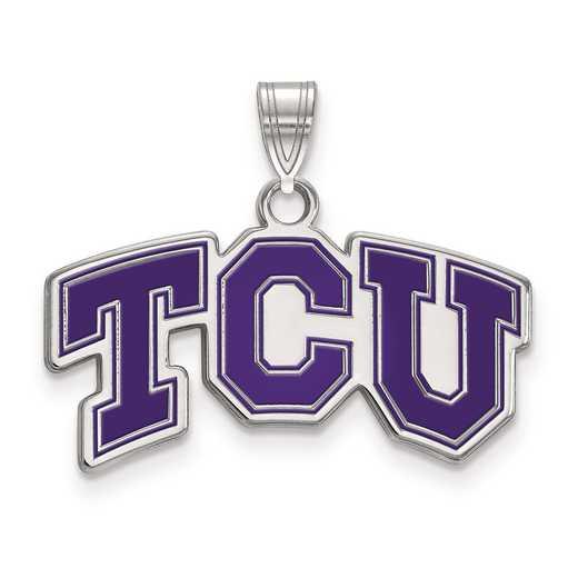 SS010TCU: S S LogoArt Texas Christian University Small Enamel Pend