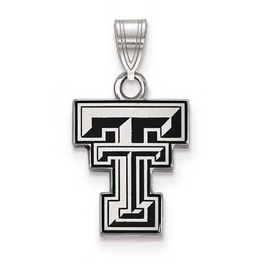 SS031TXT: S S LogoArt Texas Tech University Small Enamel Pend