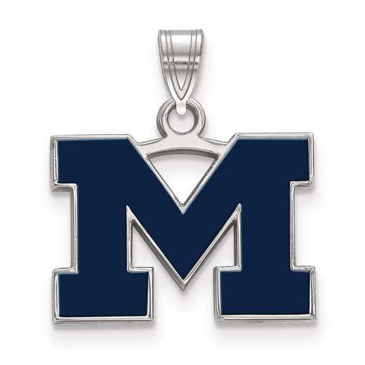 SS061UM: S S LogoArt Michigan (Univ Of) Small Blue Enamel Pend