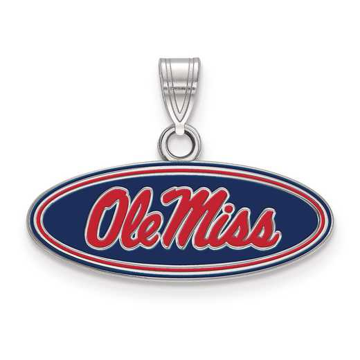 SS031UMS: S S LogoArt University of Mississippi Small Enamel Pend
