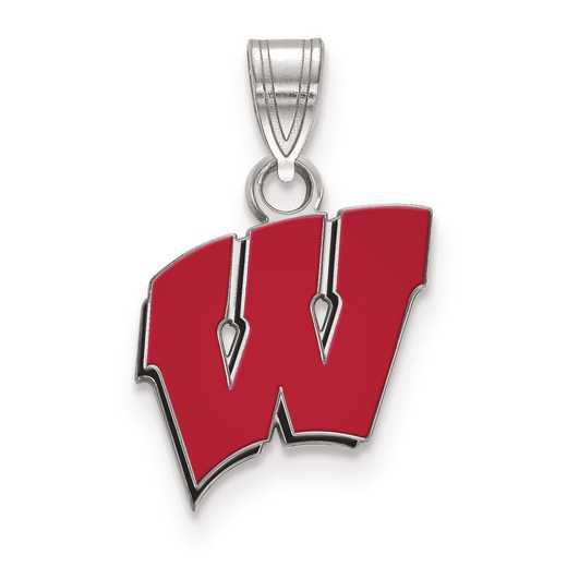 SS031UWI: S S LogoArt University of Wisconsin Small Enamel Pend