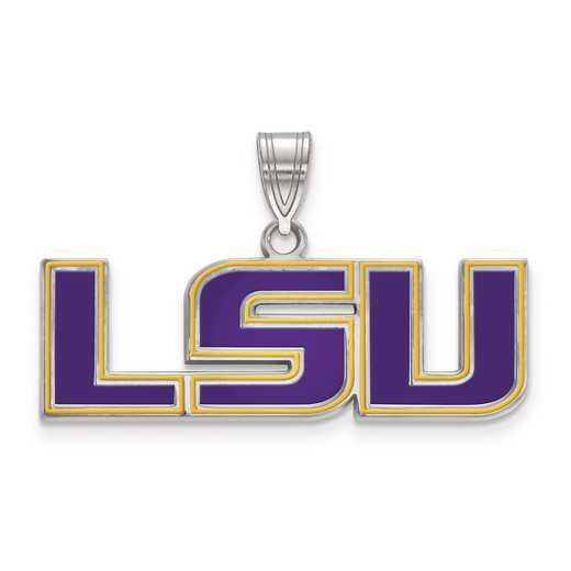 SS087LSU: S S LogoArt Louisiana State University Medium Enamel Pend