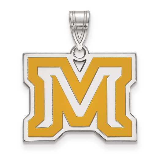SS022MTU: S S LogoArt Montana State University Medium Enamel Pend