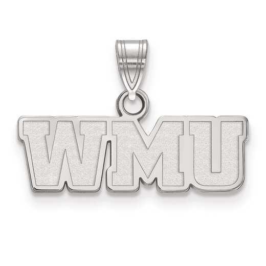 SS017WMU: SS LogoArt Western Michigan University Small PEND