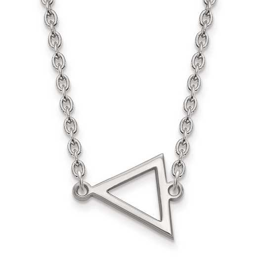 SS045MU-18: SS LogoArt Miami University Small Triangle PEND w/ Necklace