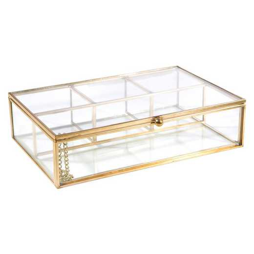 27152-GOLD: KEN Vintage 4 CompartmentKeepsake Box in Gold