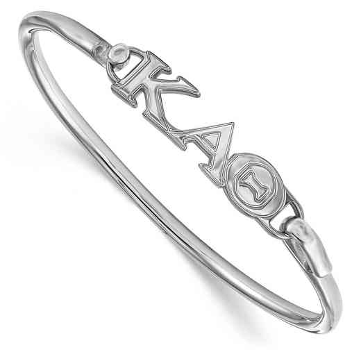 Kappa Alpha Theta Sterling Silver Bangle