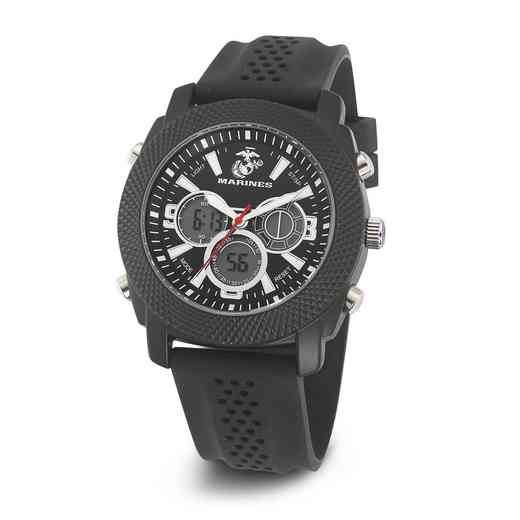 XWA4648: USMC Wrist Armor C21 Blk/White Watch