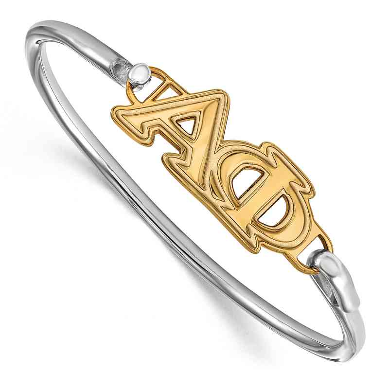 Alpha Phi Sterling Silver Yellow Gold Flash Plated Bangle