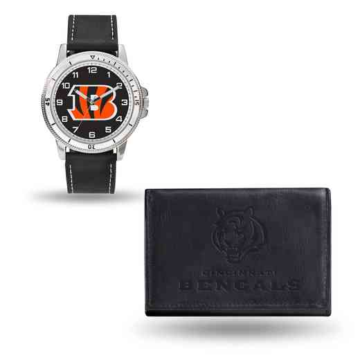GC4820: Men's NFL Watch/Wallet Set - Cincinnati Bengals - Black