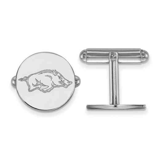 SS011UAR: LogoArt NCAA Cufflinks - Arkansas - White