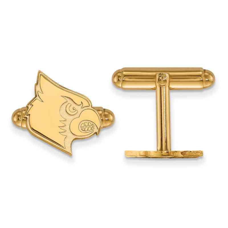 GP048UL: LogoArt NCAA Cufflinks - Louisville - Yellow