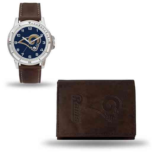 GC4874: Men's NFL Watch/Wallet Set - Los Angeles Rams - Brown