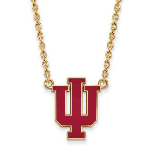 GP073IU-18: LogoArt NCAA Enamel Pendant - Indiana - Yellow