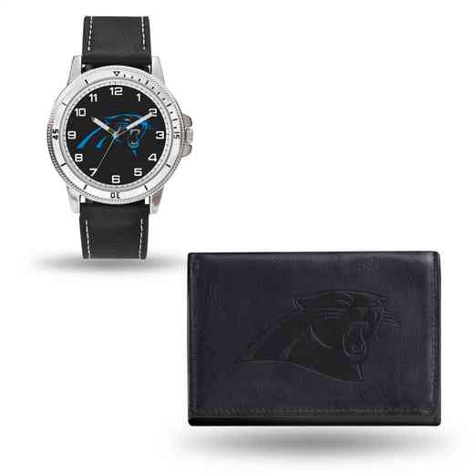 GC4818: Men's NFL Watch/Wallet Set - Carolina Panthers - Black
