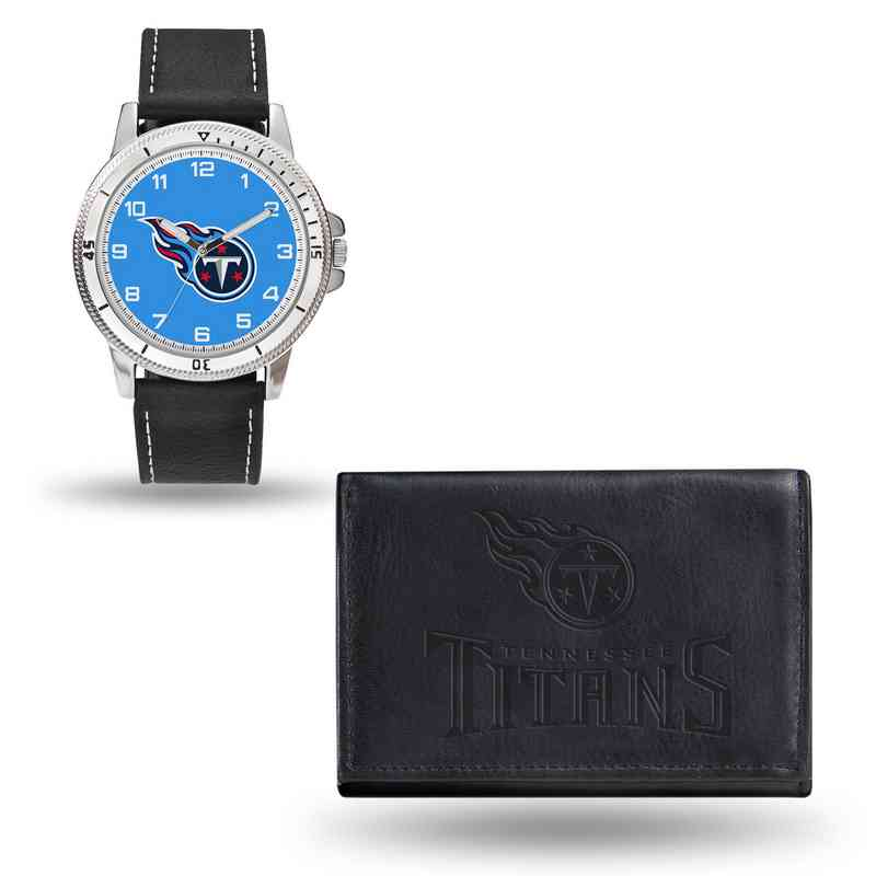 GC4844: Men's NFL Watch/Wallet Set - Tennessee Titans - Black